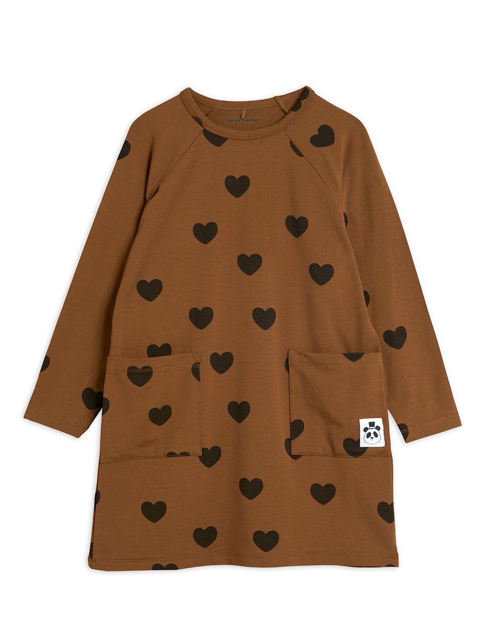 Hearts Dress, brown