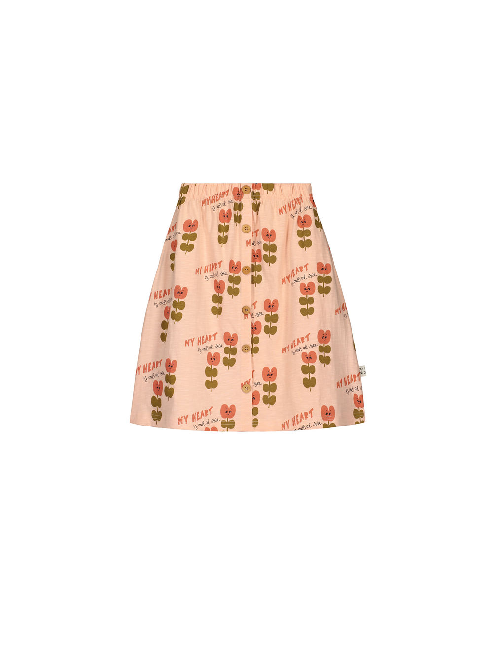 Heart At The Sea Button Skirt