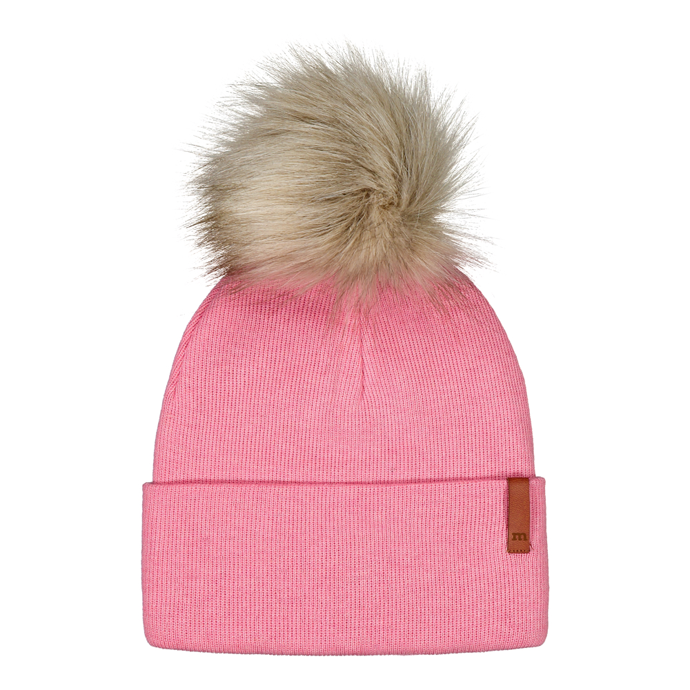 Folded Beanie Fur, rosewater