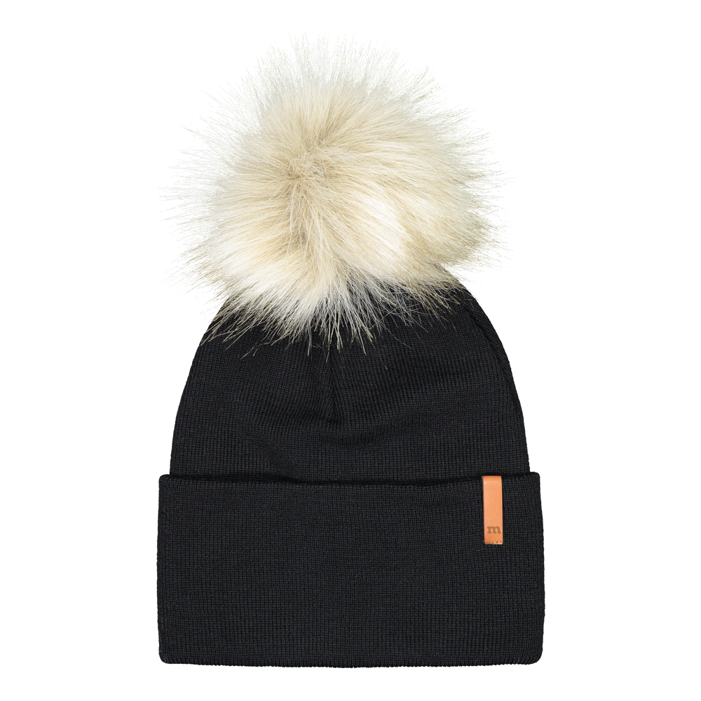 Folded Beanie Fur, black