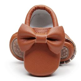 BabyMocs Bow, brown